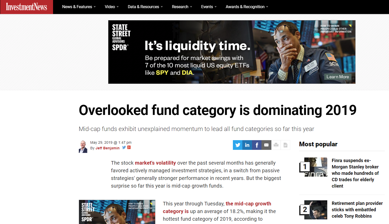 Overlooked fund category is dominating 2019 | Oaktree Financial Advisors